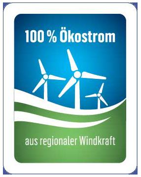 100% Ökostrom aus regionaler Windkraft